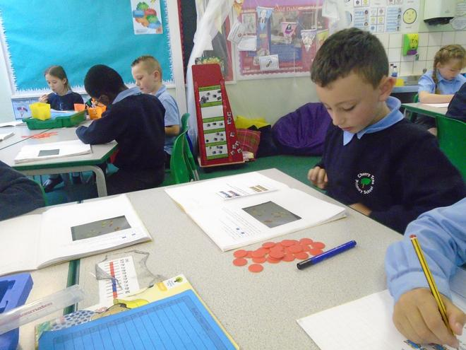 We have been exploring multiplication.