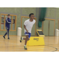 Nico sprinting in Sportshall Athletics