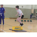 George in the Speedbounce at Sportshall Athletics