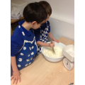 Baking cakes for Children in Need day!