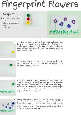A spring painting activity