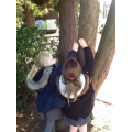We went on a jungle animal hunt on the playground