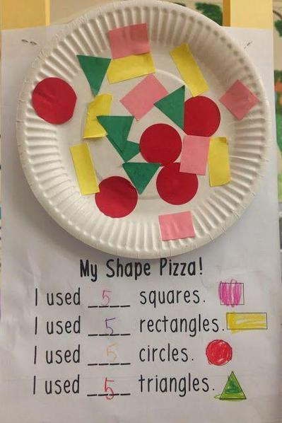 Shapes, cutting, sticking, counting..