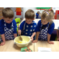 Baking our yummy biscuits for Roald Dahl day!