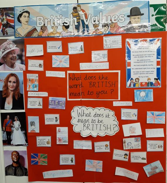 In PSHE we discussed what it means to be British.