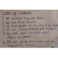 Year 3 worked together to create our Code of Conduct.