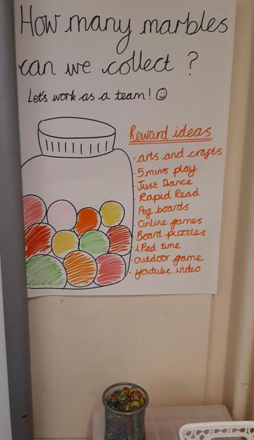 We like earning marbles to get our class some extra reward time.