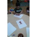 We had fun creating our interpritation of an Ox