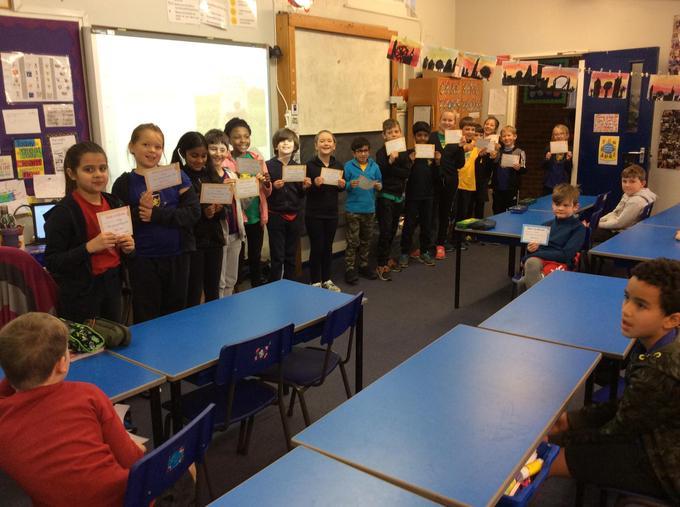 Gold certificate winners