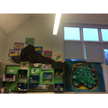 We added some iguanas to our display, linking our Art and Science learning!
