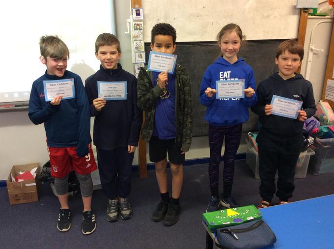 Silver certificate winners