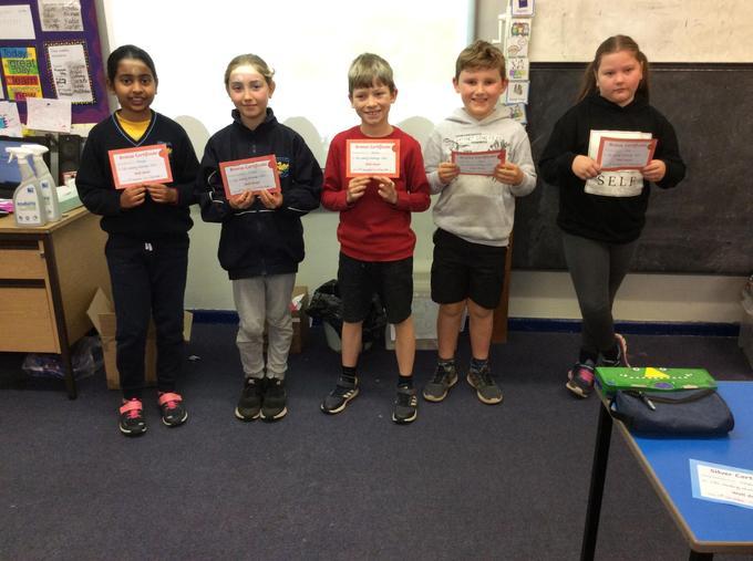 Bronze certificate winners
