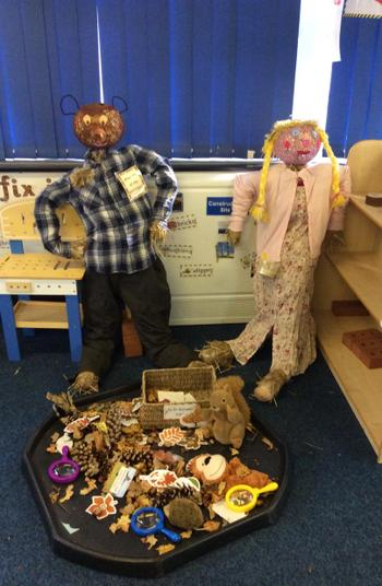 Nursery have been making their own class scarecrows to celebrate Autumn and Harvest.