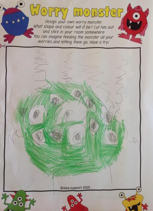 One of our Worry Monsters after reading 'Ruby's Worry'