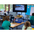 Year 4 & 5 watching the return to school video