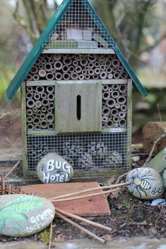 Our Reflective Garden's Bug Hotel