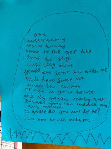 ... & egg shaped Easter poems!