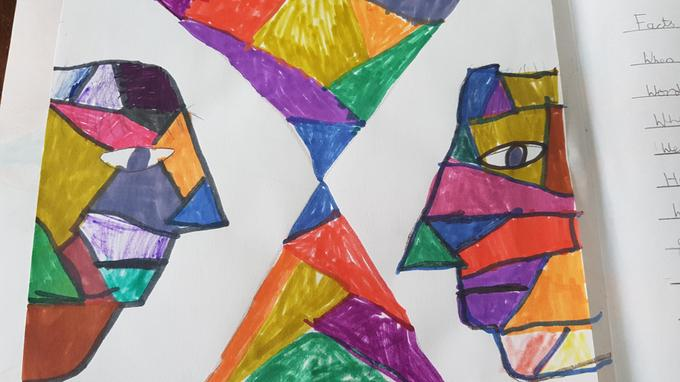 We can create captivating cubist art pieces!