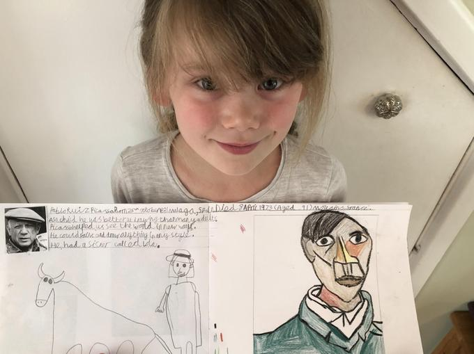 An artistic Pablo Picasso character profile!