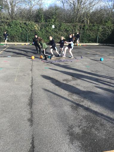 Dribbling our balls