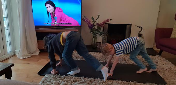 Some youthful Yogis in action!