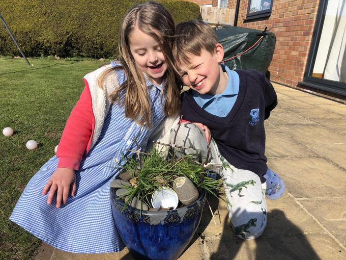 An outdoor Easter creation!