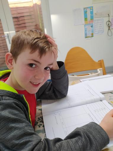 A budding Mathematician at work!