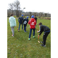 Trying our hand at croquet