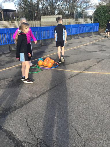 Collecting balls in our hoops