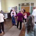 We joined in with singing and dancing.