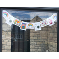 James and Matthew's rainbow window