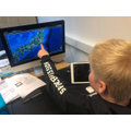 Matthew using Google Earth to find out about Japan