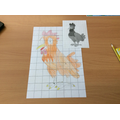 Alex's fantastic rooster drawing