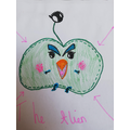 Maisie's alien - Evil Blobby junior!