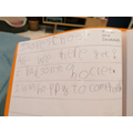 Darcey's phonics work