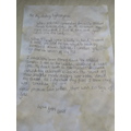 Sienna's letter as Bess