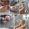 Harrison has made his own canopic jars!