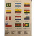 Flags of South America by Isabelle