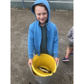 Luca caught a fish, well done!