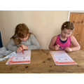 Rosie and Isla hard at work