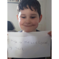 Zack's 'ie' sentence in phonics
