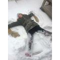 Megan's snow angel!