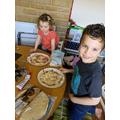 Yummy pizza Owen!