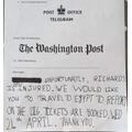 Harrison's telegram..