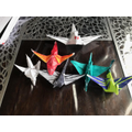 Lewis' origami dragons...