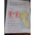 Isla's amazing Peru fact file.