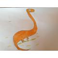 Max's super artwork... dinosaur