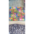 Lauren made her own snakes and ladders board. Wow!