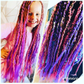 Mia- Mae has got beautiful rainbow hair.