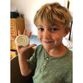 Beau made fossil out of salt dough